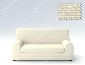 Ελαστικά καλύμματα καναπέ Ξεχωριστό Μαξιλάρι Bielastic Alaska-Τριθέσιος-Ιβουάρ-10+ Χρώματα Διαθέσιμα-Καλύμματα Σαλονιού