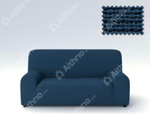 Ελαστικά Καλύμματα Προσαρμογής Σχήματος Καναπέ Bielastic Alaska-Μπλε-Τριθέσιος-10+ Χρώματα Διαθέσιμα-Καλύμματα Σαλονιού