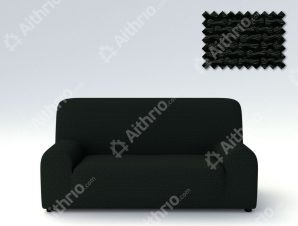 Ελαστικά Καλύμματα Προσαρμογής Σχήματος Καναπέ Bielastic Alaska-Μαύρο-Τετραθέσιος-10+ Χρώματα Διαθέσιμα-Καλύμματα Σαλονιού