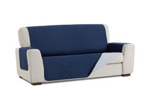 Σταθερά Καλύμματα Διπλής Όψης Universal Quilt – Μπλε/Γκρι – Τετραθέσιος-10+ Χρώματα Διαθέσιμα-Καλύμματα Σαλονιού