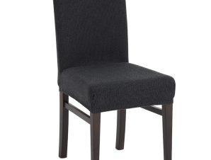 Σετ (2 Τμχ) Ελαστικά Καλύμματα Καρέκλας Με Πλάτη Creta – C/10 Γκρι