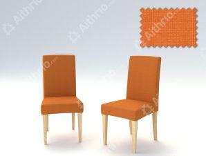 Σετ (2 Τμχ) Ελαστικά Καλύμματα Καρεκλών Με Πλάτη Tania-Πορτοκαλί