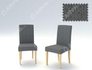 Σετ (2 Τμχ) Ελαστικά Καλύμματα Καρεκλών Με Πλάτη Valencia-Γκρι