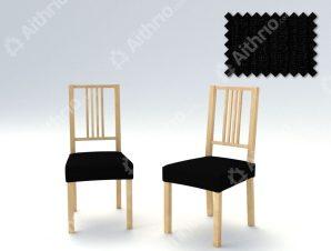 Σετ (2 Τμχ) Ελαστικά Καλύμματα-Καπάκια Καρέκλας Creta – C/11 Μαύρο