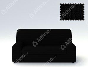 Ελαστικά Καλύμματα Καναπέ Ξεχωριστό Μαξιλάρι Creta – C/11 Μαύρο – Τριθέσιος-10+ Χρώματα Διαθέσιμα-Καλύμματα Σαλονιού