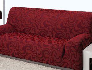 Ελαστικά καλύμματα καναπέ Danubio-Τριθέσιος-Μπορντώ-10+ Χρώματα Διαθέσιμα-Καλύμματα Σαλονιού