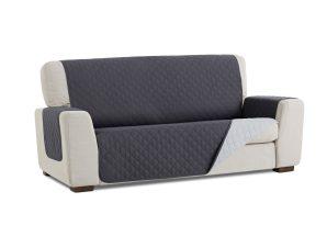 Σταθερά Καλύμματα Διπλής Όψης Universal Quilt – Σκούρο Γκρι/Ανοιχτό Γκρι – Πολυθρόνα-10+ Χρώματα Διαθέσιμα-Καλύμματα Σαλονιού