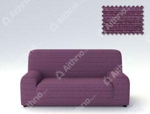 Ελαστικά καλύμματα καναπέ Ibiza-Τριθέσιος-Μωβ-10+ Χρώματα Διαθέσιμα-Καλύμματα Σαλονιού