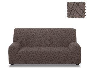 Ελαστικά καλύμματα καναπέ Karen-Τριθέσιος-Γκρι-10+ Χρώματα Διαθέσιμα-Καλύμματα Σαλονιού