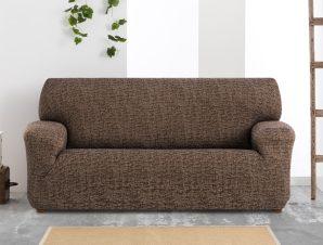 Ελαστικά καλύμματα καναπέ Malta-Καφέ-Τριθέσιος-10+ Χρώματα Διαθέσιμα-Καλύμματα Σαλονιού