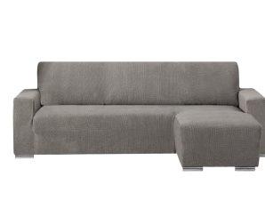 Ελαστικά καλύμματα γωνιακού καναπέ με κοντό μπράτσο Bielastic Alaska-Δεξια-Γκρι