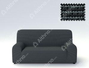 Ελαστικά Καλύμματα Προσαρμογής Σχήματος Καναπέ Dual Alaska – C/35 Μαύρο/Λευκό – Τριθέσιος-10+ Χρώματα Διαθέσιμα-Καλύμματα Σαλονιού