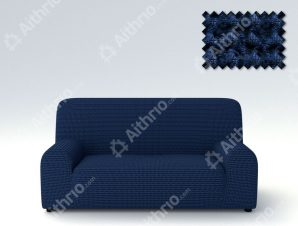 Ελαστικά Καλύμματα Προσαρμογής Σχήματος Καναπέ Milos – C/4 Μπλε – Πολυθρόνα-10+ Χρώματα Διαθέσιμα-Καλύμματα Σαλονιού