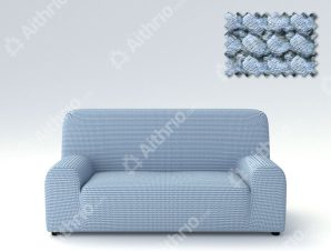 Ελαστικά Καλύμματα Προσαρμογής Σχήματος Καναπέ Milos – C/24 Ανοιχτό Μπλε – Πενταθέσιος-10+ Χρώματα Διαθέσιμα-Καλύμματα Σαλονιού