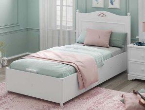 Παιδικό κρεβάτι ημίδιπλο με αποθηκευτικό χώρο RU-1706