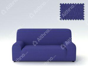 Ελαστικά Καλύμματα Προσαρμογής Σχήματος Καναπέ Peru-Μπλε-Τριθέσιος-10+ Χρώματα Διαθέσιμα-Καλύμματα Σαλονιού