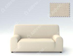 Ελαστικά Καλύμματα Προσαρμογής Σχήματος Καναπέ Peru-Ιβουάρ-Τετραθέσιος-10+ Χρώματα Διαθέσιμα-Καλύμματα Σαλονιού