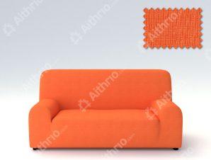 Ελαστικά καλύμματα καναπέ Peru-Τριθέσιος-Πορτοκαλί-10+ Χρώματα Διαθέσιμα-Καλύμματα Σαλονιού