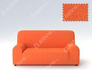 Ελαστικά Καλύμματα Προσαρμογής Σχήματος Καναπέ Peru-Πορτοκαλί-Τετραθέσιος-10+ Χρώματα Διαθέσιμα-Καλύμματα Σαλονιού