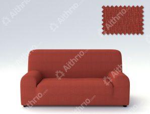 Ελαστικά Καλύμματα Προσαρμογής Σχήματος Καναπέ Peru-Κεραμιδί-Τριθέσιος-10+ Χρώματα Διαθέσιμα-Καλύμματα Σαλονιού