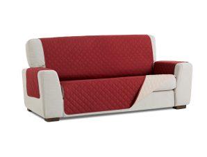 Σταθερά Καλύμματα Διπλής Όψης Universal Quilt – Κόκκινο/Μπεζ – Πολυθρόνα-10+ Χρώματα Διαθέσιμα-Καλύμματα Σαλονιού