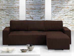 Ελαστικά καλύμματα γωνιακού καναπέ με κοντό μπράτσο Bielastic Alaska-Δεξια-Καφέ