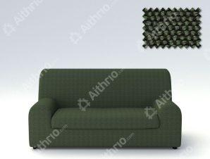 Ελαστικά καλύμματα καναπέ Ξεχωριστό Μαξιλάρι Bielastic Viena-Τριθέσιος-Πράσινο-10+ Χρώματα Διαθέσιμα-Καλύμματα Σαλονιού