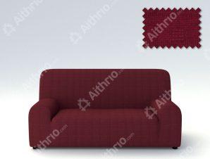 Ελαστικά καλύμματα καναπέ Tania-Τριθέσιος-Μπορντώ-10+ Χρώματα Διαθέσιμα-Καλύμματα Σαλονιού
