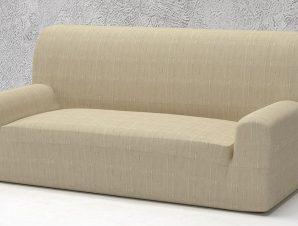 Ελαστικά καλύμματα καναπέ Tania-Τριθέσιος-Ιβουάρ-10+ Χρώματα Διαθέσιμα-Καλύμματα Σαλονιού