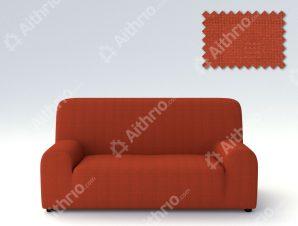 Ελαστικά καλύμματα καναπέ Tania-Τετραθέσιος-Κεραμιδί-10+ Χρώματα Διαθέσιμα-Καλύμματα Σαλονιού