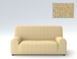 Ελαστικά καλύμματα καναπέ Valencia-Πολυθρόνα-Μπεζ-10+ Χρώματα Διαθέσιμα-Καλύμματα Σαλονιού