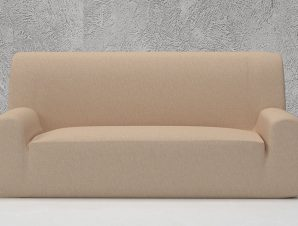 Ελαστικά καλύμματα καναπέ Valencia-Τετραθέσιος-Ιβουάρ-10+ Χρώματα Διαθέσιμα-Καλύμματα Σαλονιού