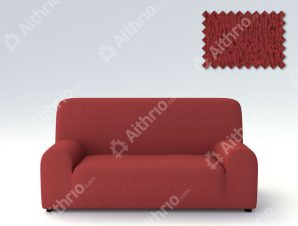 Ελαστικά καλύμματα καναπέ Valencia-Τετραθέσιος-Κεραμιδί-10+ Χρώματα Διαθέσιμα-Καλύμματα Σαλονιού