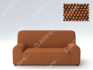 Ελαστικά Καλύμματα Προσαρμογής Σχήματος Καναπέ Viena – C/7 Πορτοκαλί – Τετραθέσιος-10+ Χρώματα Διαθέσιμα-Καλύμματα Σαλονιού