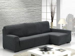 Ελαστικά καλύμματα γωνιακού καναπέ Bielastic Viena-Δεξια-Γκρι